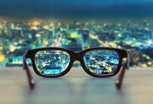glasses-looking-at-city