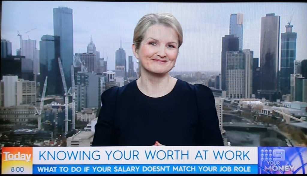 Michelle Gibbings appearing on the TODAY Show 5 February 2019